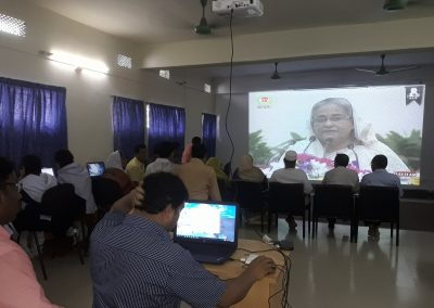 Video conference of PM